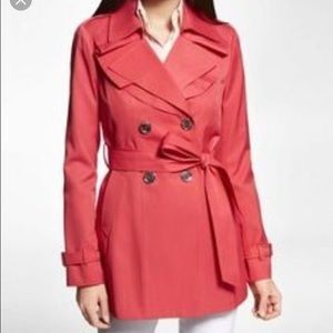 Express Trench Coat in Hot Pink